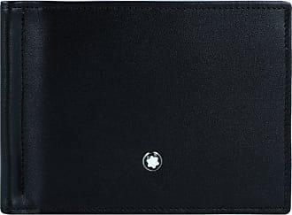 Montblanc Meisterstück Portafoglio pelle 11 cm schwarz hellblau