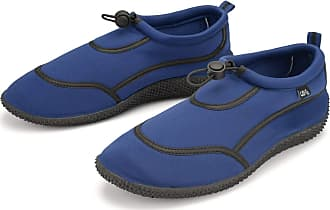 Urban Beach Wet Shoes Mens Adult Size Aqua Beach Surf Water Swim Foot Protection (Navy Blue & Black, Numeric_11)