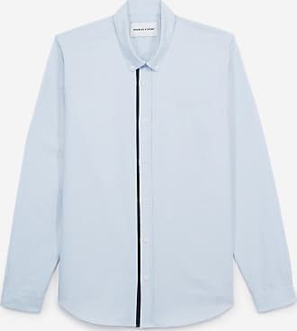 The Kooples Blue Oxford shirt with classic collar - MEN