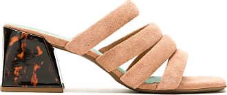 Blue Bird Shoes Mule Kasbah camurça salto bloco - Neutro