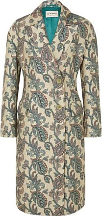 Etro Cotton And Silk-blend Jacquard Coat - Cream