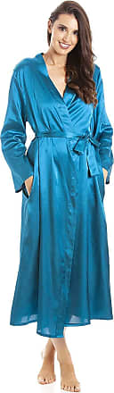 Camille Womens Teal Long Satin Wraps 10/12 Teal