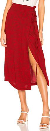Free People Yasmin Tied Midi Skirt in Red