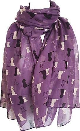 GlamLondon Retriever Labrador Dog Scarf Womens Fashion Large Lightweight Wrap Scarves (Purple)