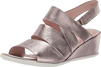 Ecco Womens Womens Shape 35 Wedge Sandal, Stone Metallic 37 M EU (6-6.5 US)
