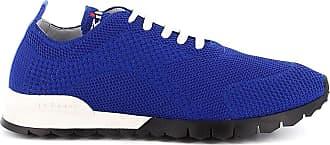 Kiton Fashion Man USSFITN0060914002 Blue Cotton Sneakers   Spring Summer 20