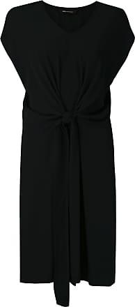 Uma Vestido Rush em alfaiataria - Preto