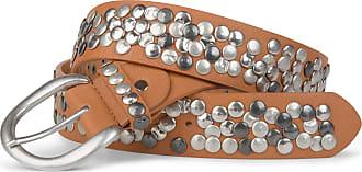 styleBREAKER studded belt in vintage style, shortenable 03010024, size:100cm, color:Camel