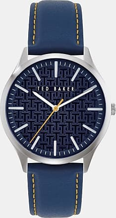 Ted Baker Leather Strap Watch in Navy MANHAN, Mens Accessories
