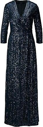Madeleine Bodenlanges Paillettenkleid Damen marine/multicolor / blau