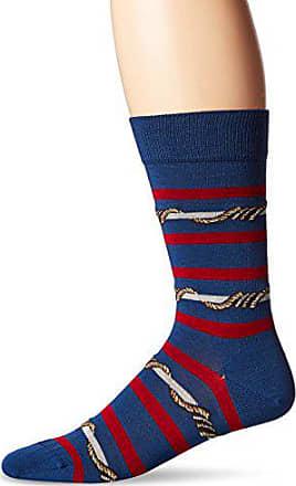 Ozone Mens Wrap Around Stripes Sock, Navy, 10-13