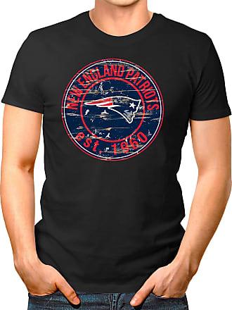 OM3 New-England-Badge - T-Shirt | Mens | American Football Shirt | XXL, Black