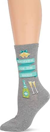 Hot Sox Womens Wedding Bliss Novelty Casual Crew Socks, Mother Of The Bride (Grey Heather), Shoe Size: 4-10 Size: 9-11