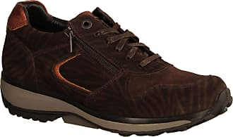 Xsensible Xsensible Jersey Mogano Zebra (Brown) - Lace-Up - Womens Shoes Comfortable Lace-Up Shoes, Brown, Leather Brown Size: 8 UK