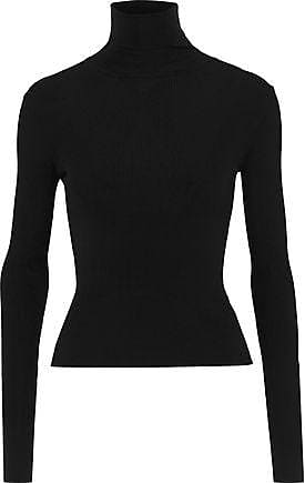Dolce   Gabbana Dolce   Gabbana Woman Ribbed Cashmere And Silk-blend  Turtleneck Sweater Black bf5d166f5