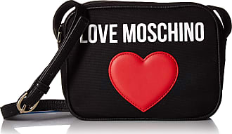 Love Moschino Borsa Canvas E Pebble Pu, Womens Cross-Body Bag, Black (Nero), 7x15x20 cm (W x H L)