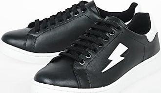 Neil Barrett Leather TENNIS TRAINER THUNDERBOLT Sneakers size 43