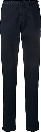 Dell'Oglio slim-fit tapered trousers - Azul
