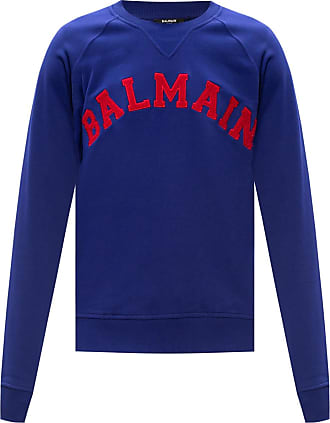 Balmain Logo Sweatshirt Mens Purple