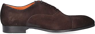 Santoni Business shoes 11011 suede brown