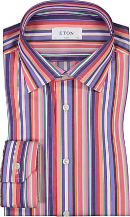 Eton Übergröße : Eton, Oberhemd im Streifenmuster in Rot für Herren