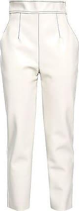Philosophy di Lorenzo Serafini Philosophy Di Lorenzo Serafini Woman Faux Leather Tapered Pants Ivory Size 42