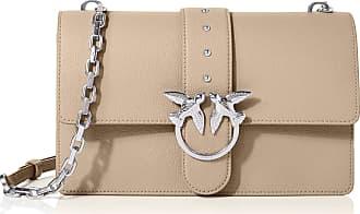 Pinko Womens Love Classic Simply 1 Cl Pelle Messenger Bag, Beige (Beige-CHIARO DI Luna), 7.5x16.5x27 centimeters (W x H x L)