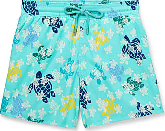 Vilebrequin Moorise Slim-fit Mid-length Glow-in-the-dark Printed Swim Shorts - Light blue