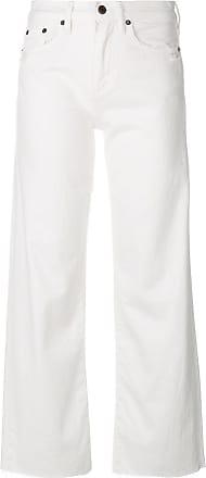 Simon Miller wide leg frayed jeans - White