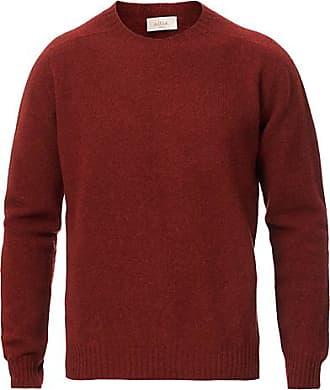 Altea Shetland Crew Neck Sweater Rust