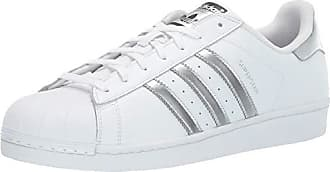 adidas Originals Womens Superstar Shoes Running, White/Silver Metallic/Black, 13.5 M US