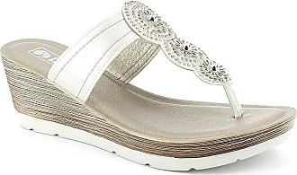 7722613eb9e9 Inblu Womens Thong Sandals White Bianco White Size  4 UK