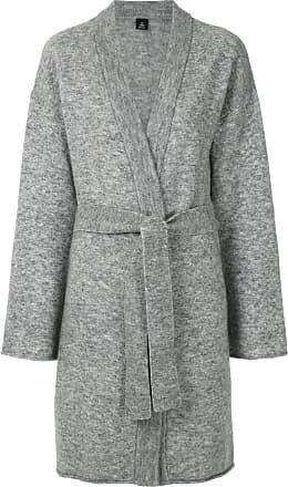Osklen belted cardi-coat - Grey