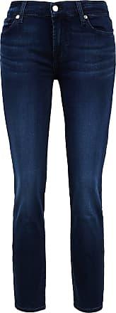 7 For All Mankind Jeans Roxanne Crop Bair Dunkelblau