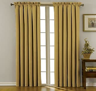 Eclipse 10299042X084GO Canova 42-Inch by 84-Inch Thermaback Blackout Single Panel, Gold