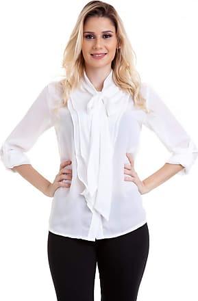 Kinara Camisa Chiffon Gola de Amarrar e Babados -G