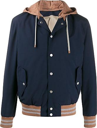 Eleventy two-tone hooded jacket - Blue