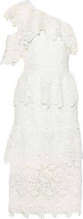 Joie Joie Woman Belisa One-shoulder Tiered Guipure Lace Midi Dress White Size 10