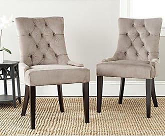 Safavieh Mercer Collection Heather Dining Chairs, Dark Taupe, Set of 2