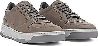 BOSS Low-top trainers in nubuck leather