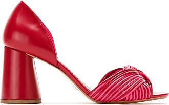 Sarah Chofakian Scarpin de couro neon - Vermelho