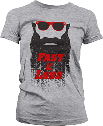 Gas Monkey Garage Officially Licensed Fast N Loud Kaufman Beard T-Shirt (Heather Grey), XXL