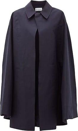 Raey Point-collar Cotton-garbadine Cape - Womens - Navy