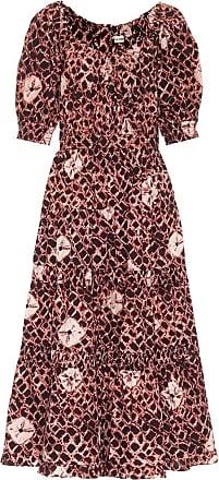Ulla Johnson Colette floral cotton-poplin midi dress