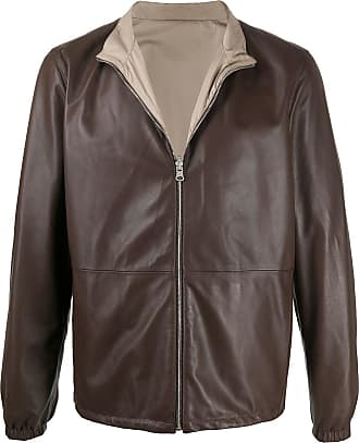 Eleventy leather bomber jacket - Brown