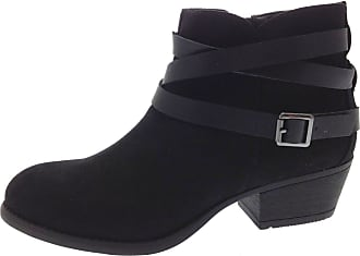 Lora Dora Womens Strappy Block Heel Boots Black UK 7