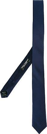 Dolce & Gabbana Gravata de seda com poás - Azul