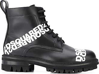 Dsquared2 logo print lace-up boots - Black