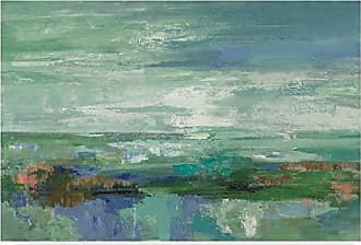 Trademark Fine Art Emerald Bay Abstract by Silvia Vassileva, 30x47-Inch Fine Art Multicolor