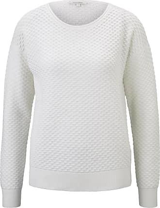 Tom Tailor Denim Damen Sweatshirt aus Jacquard mit Streifen